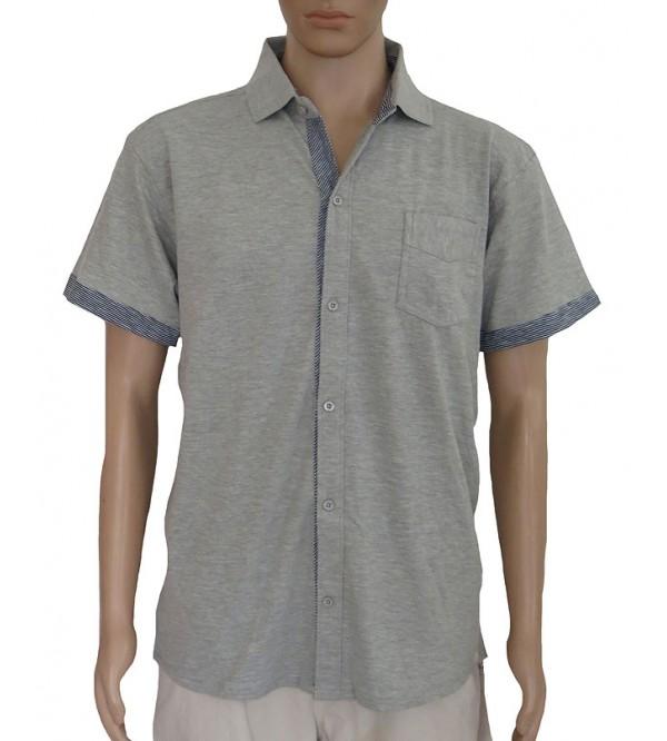 Mens Knit Full Button Shirts