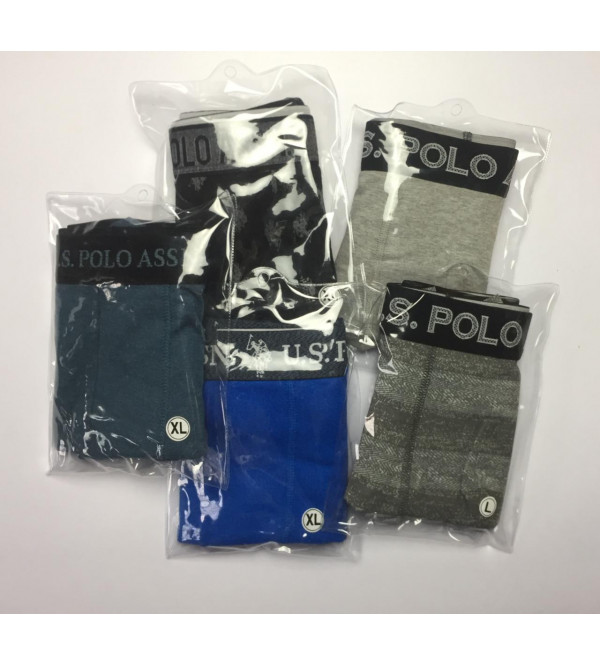 US Polo Men's Knit Boxers Packaged