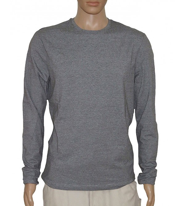 Mens Long Sleeve T Shirt Pin Stripes