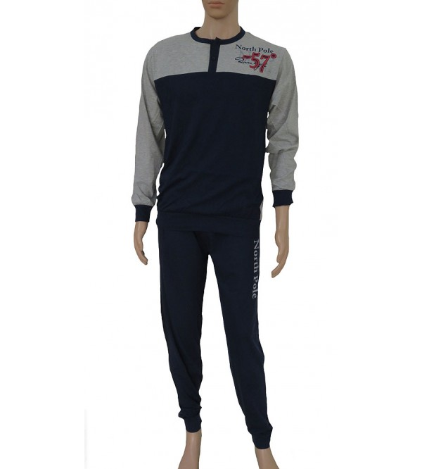 Mens Printed Winter Pyjama Sets