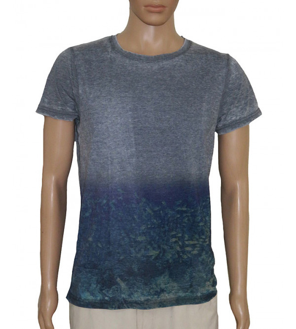 Mens Garment Dyed Two Tone Tshirt
