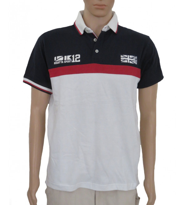 Mens Cut n Sew Polo Shirts With Applique