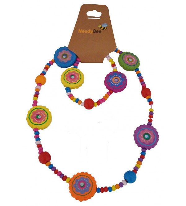 Girls Wooden Necklace With Bracelet