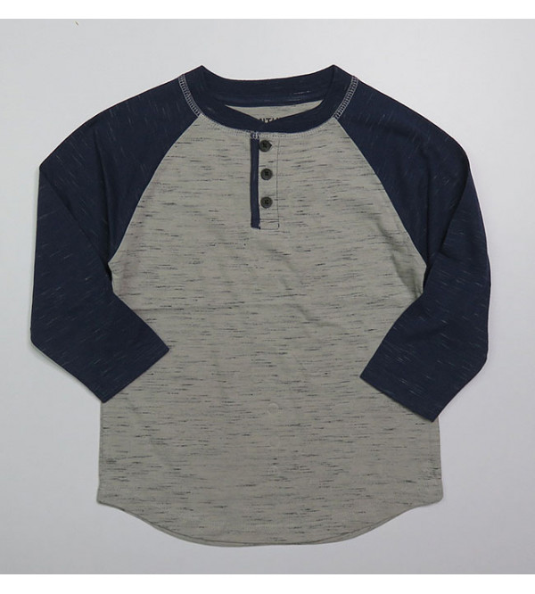 SMITH'S AMERICAN  Boys Henley Neck T Shirts Assorted