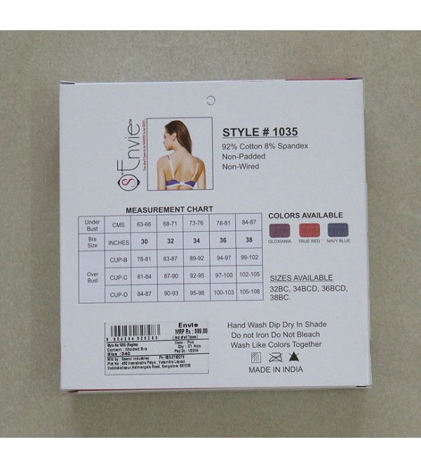 Ladies Cotton Stretch Bra