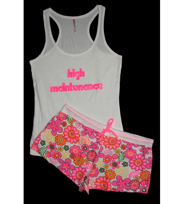 Ladies Printed Shorty Sets