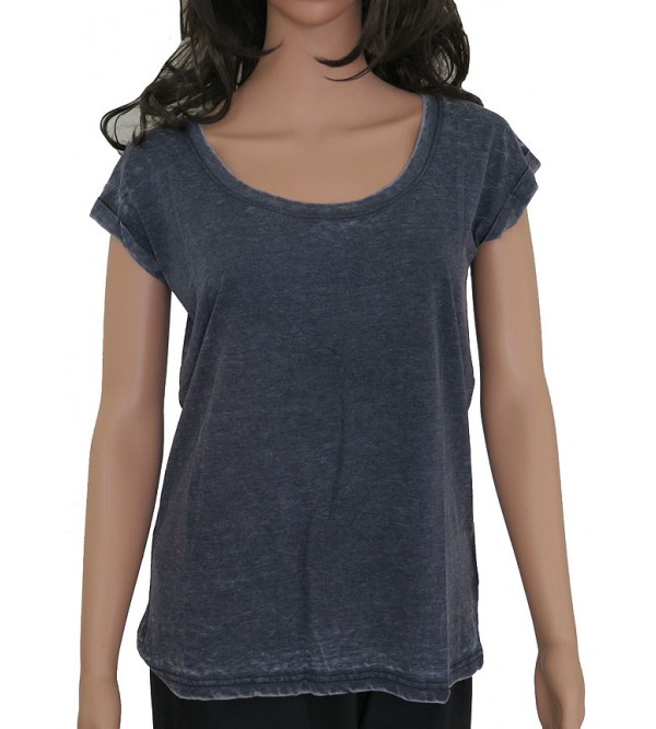 Ladies Magyar Sleeve Washed Top