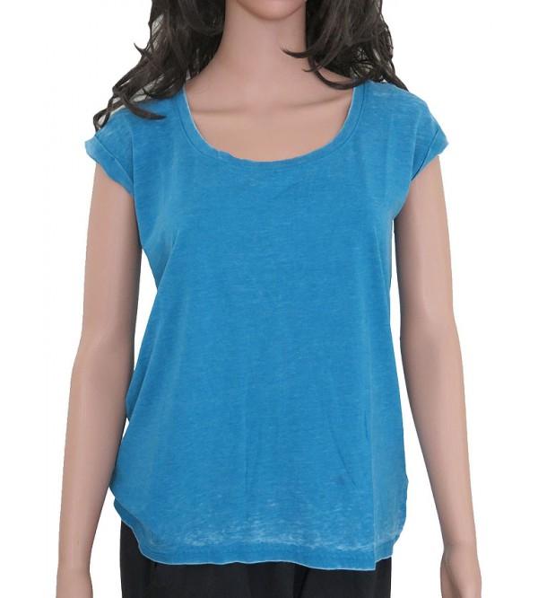 Ladies Magyar Sleeve Washed Top