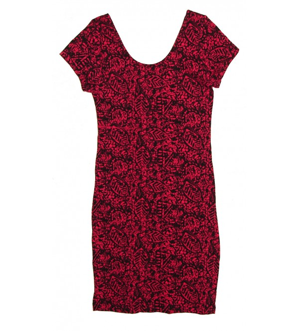 Ladies Stretch Knit Short Dress