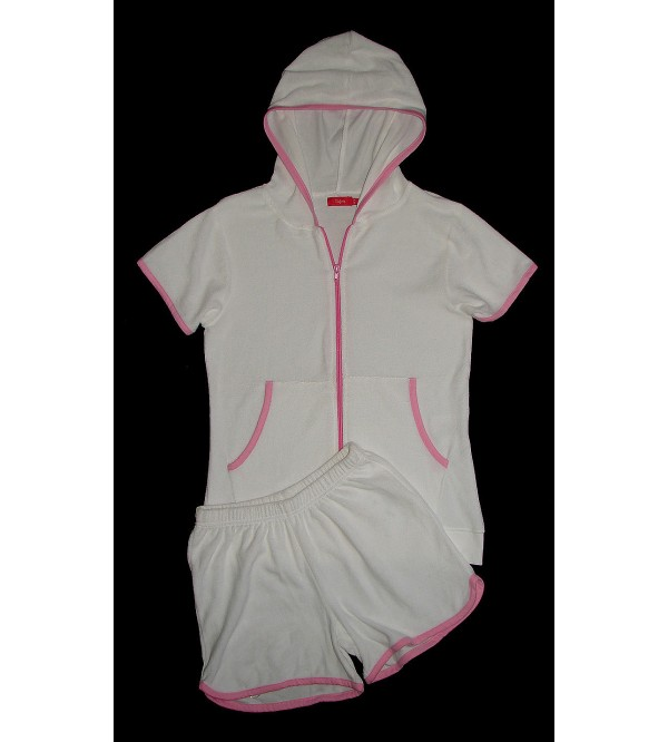 Ladies Velour Shorty Set (Hooded Top + Shorts)