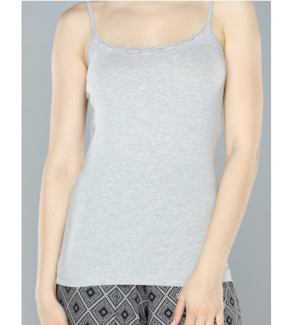 max Ladies Stretch Tank Tops With Lace Trims