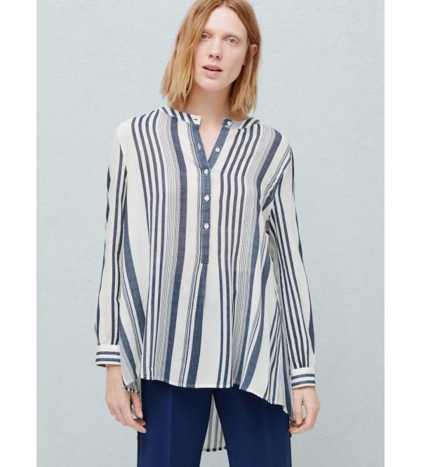Ladies Viscose Striped Shirts