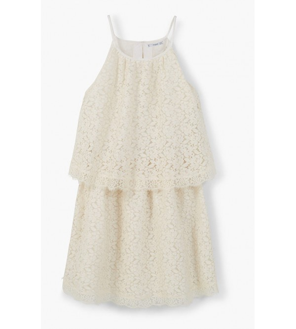 Ladies Woven Crochet strap dress