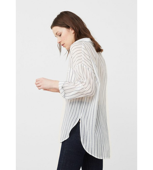 Ladies Cotton Striped Shirt