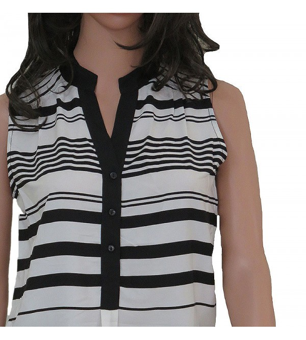 Ladies Polyester Striped Blouse