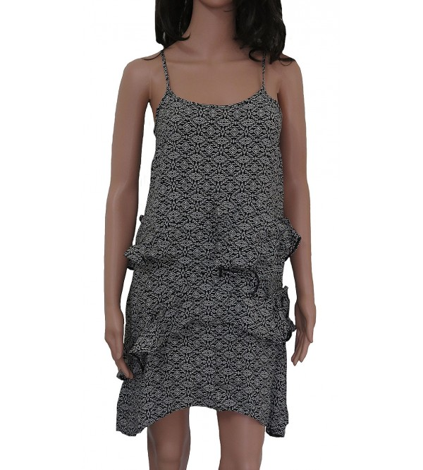Ladies Polyester Woven strap dress
