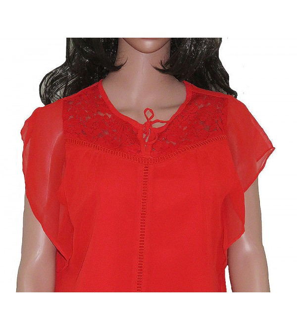 Ladies Polyester Cap Sleeve Blouse
