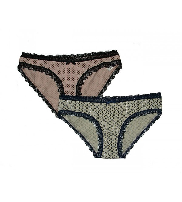 Ladies Stretch Briefs With Lace Trims