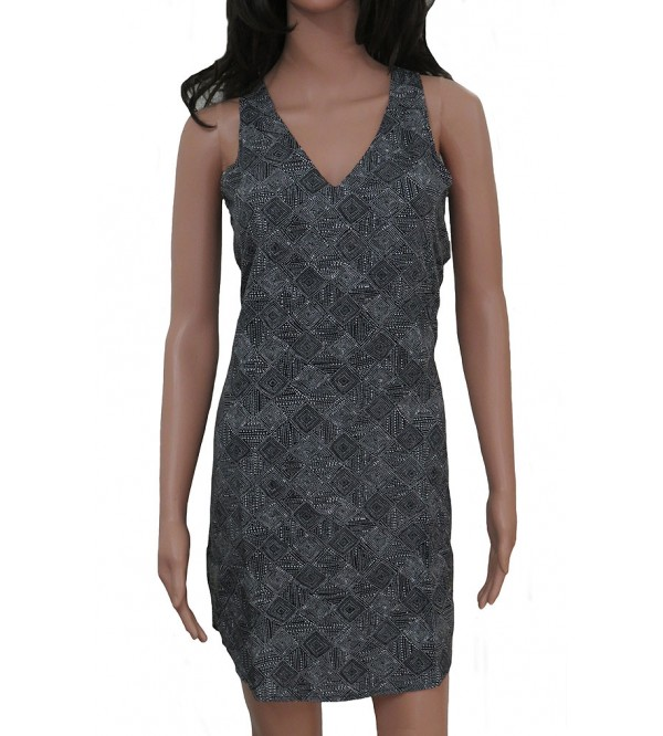 Ladies Sleeveless Printed Woven Dress