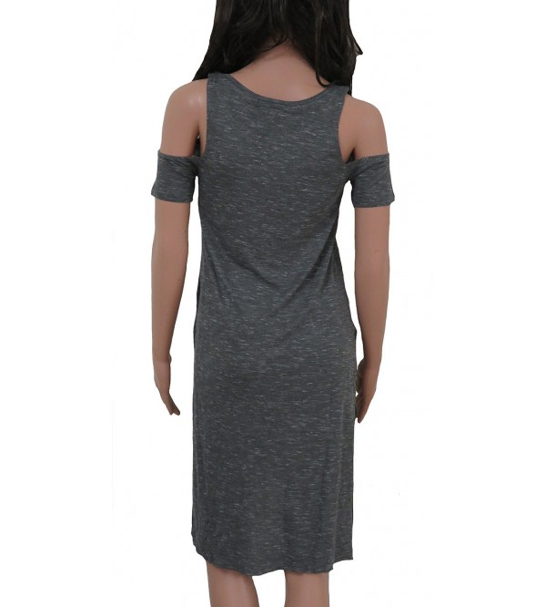 Ladies Viscose Knit Cut Shoulder Dress