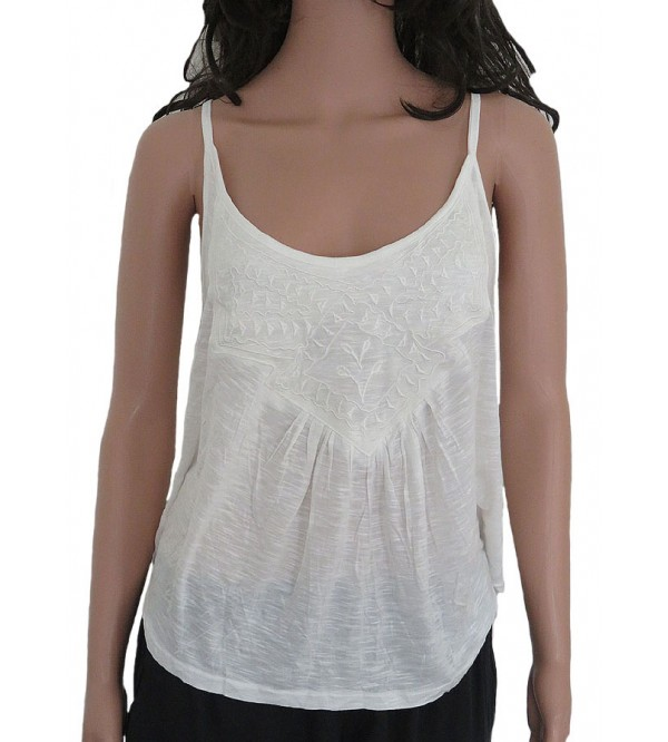 Ladies Viscose Knit Tanks with Embroidery