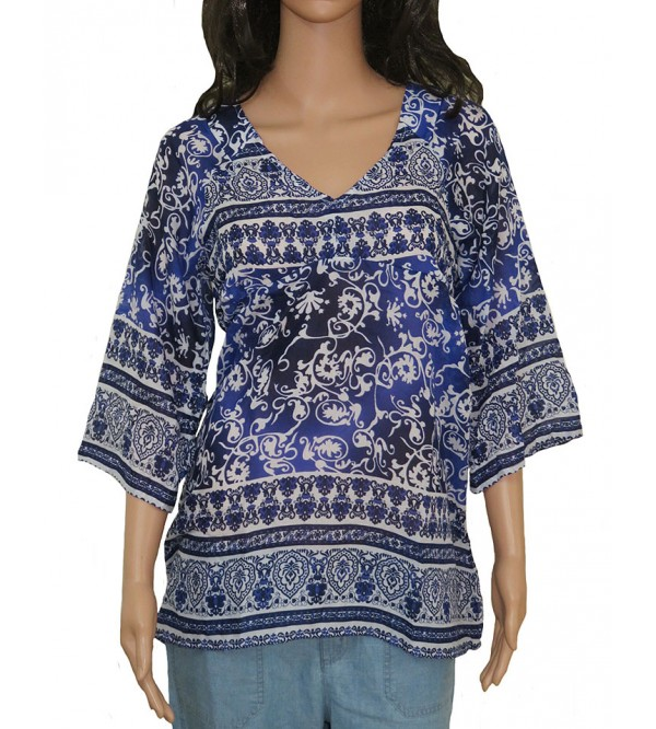 Ladies Polyester Printed Woven Tunic