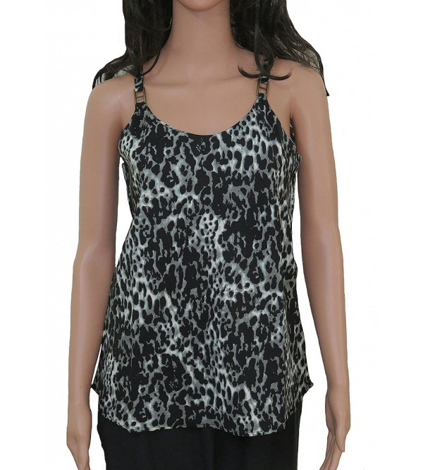 Ladies Animal Print Sleeveless Woven Top