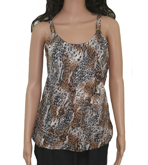 Ladies Animal Print Sleeveless Woven Top