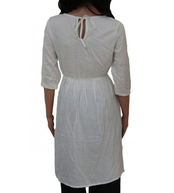Ladies Viscose Woven Dress With Embroidery
