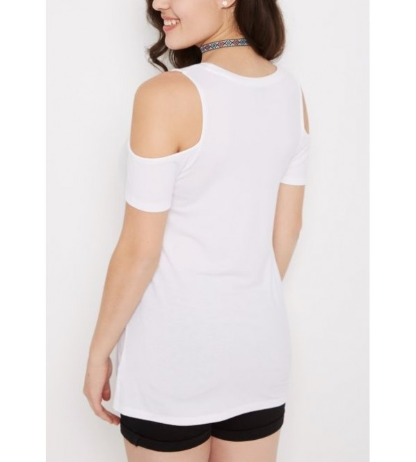 Ladies CPD Washed Cold Shoulder Top