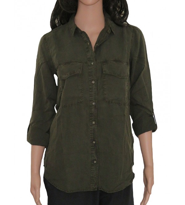 Ladies Woven Washed Cotton Shirt