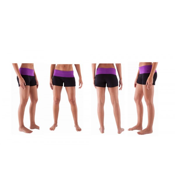 Ladies Stretch Yoga Shorts Organic