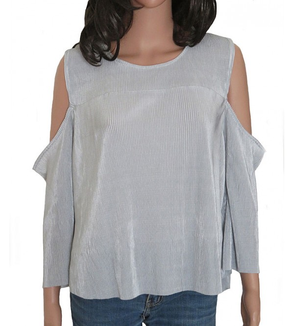 Ladies Polyester Cold Shoulder Top