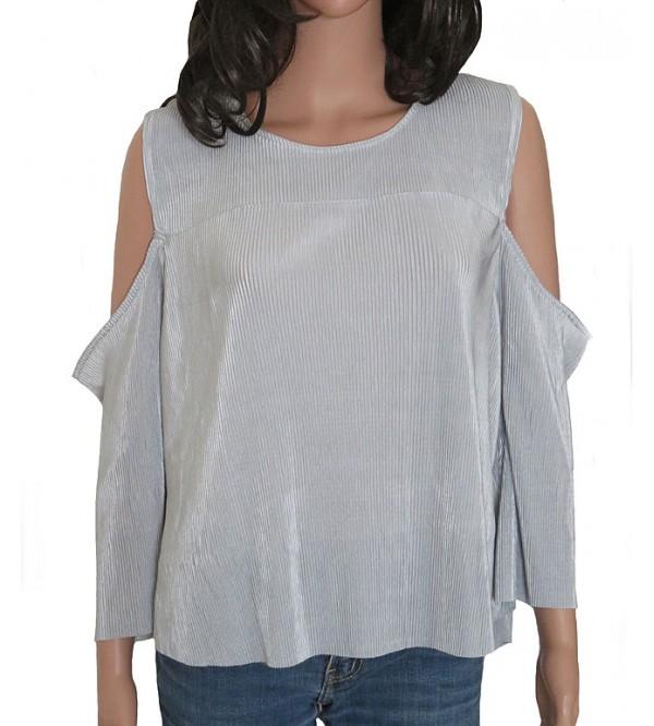 Ladies Polyester Cold Shoulder Top