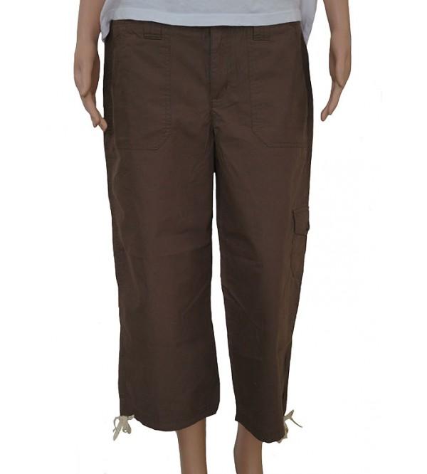 Ladies Woven Capri Pants