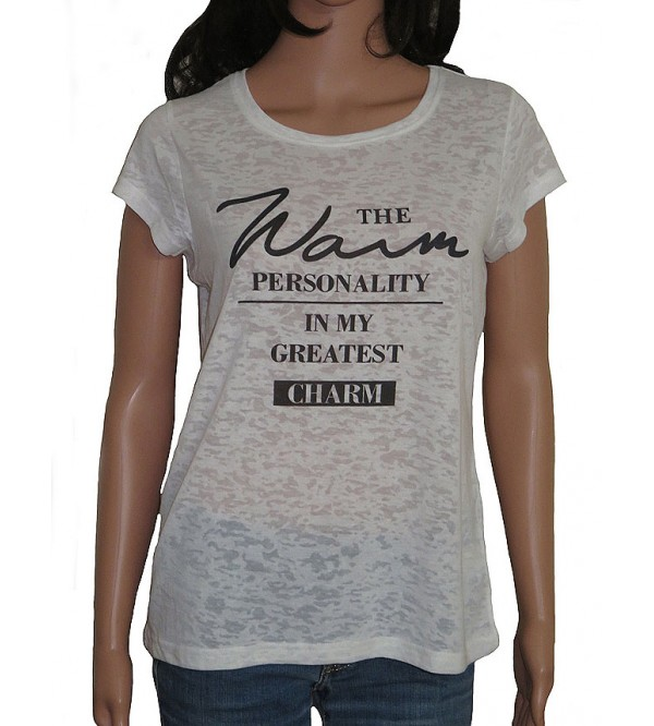 Ladies Short Sleeve Burnout Top