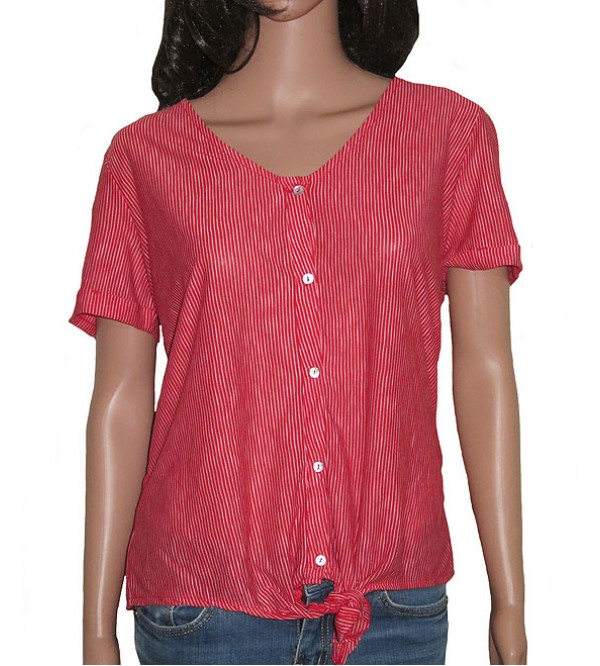 Ladies Polyester Striped Top