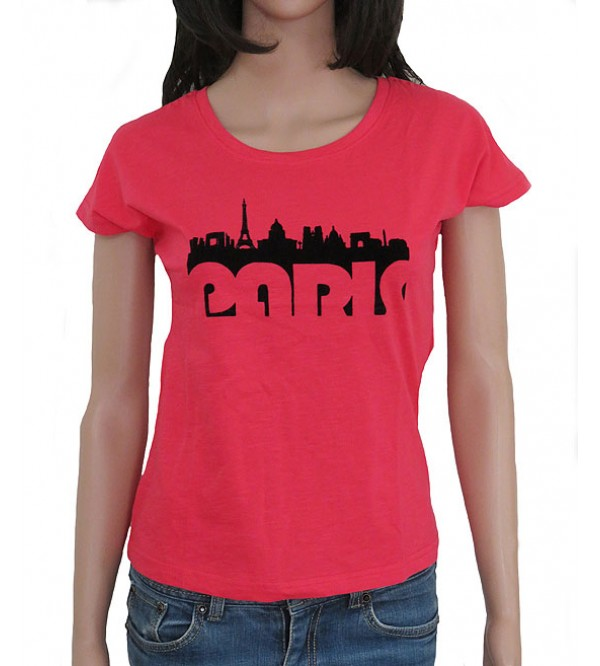 Ladies Short Sleeve Printed T Shirt