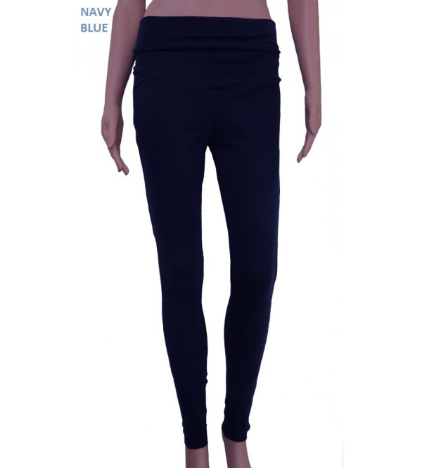 Ladies Active Leggings with Fold Over Waistband