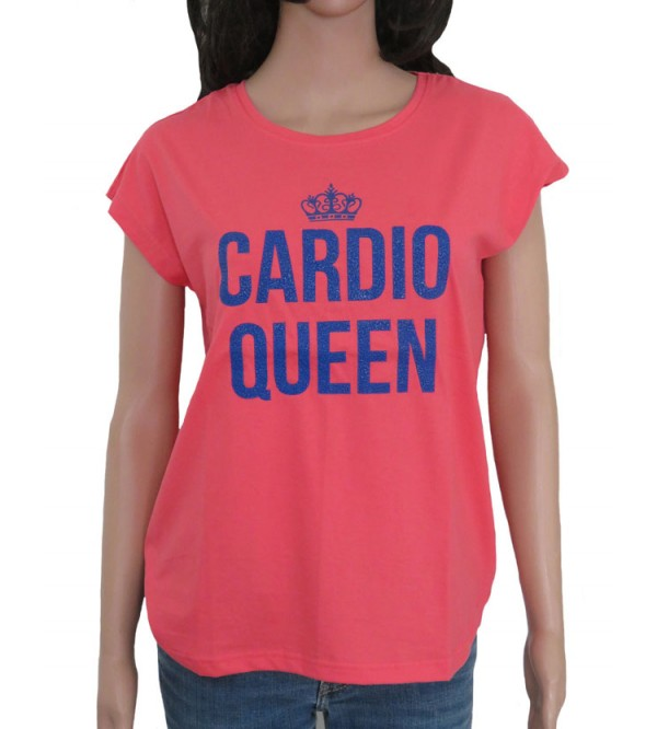 Ladies Cardio Queen Embellised T-Shirt