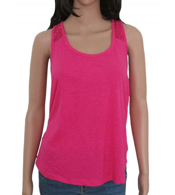 Ladies Sleeveless Crochet T Shirt