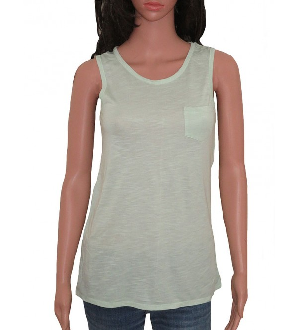 Ladies Longline Tank Tops with Pocket