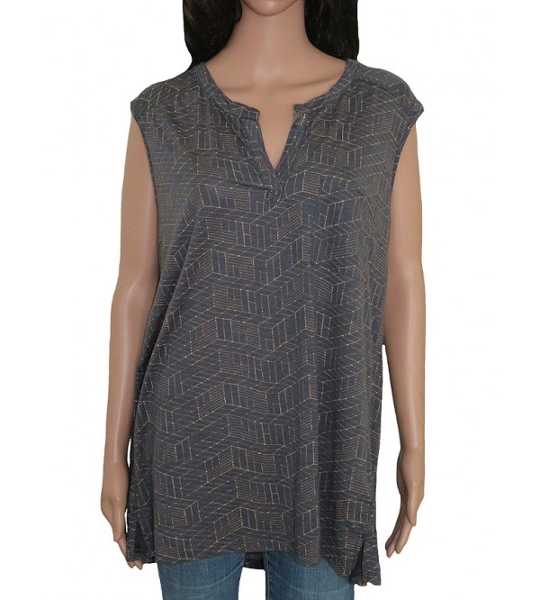 Ladies Sleeveless Printed Oversize Top