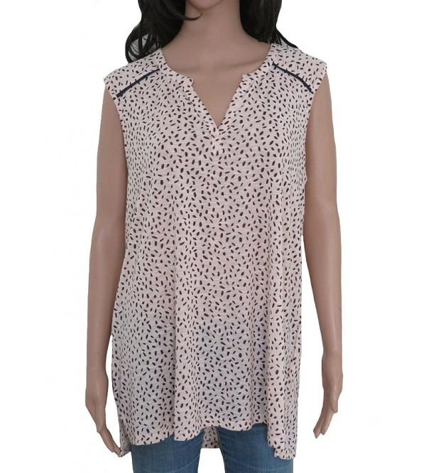 Ladies Sleeveless Printed Oversize Top