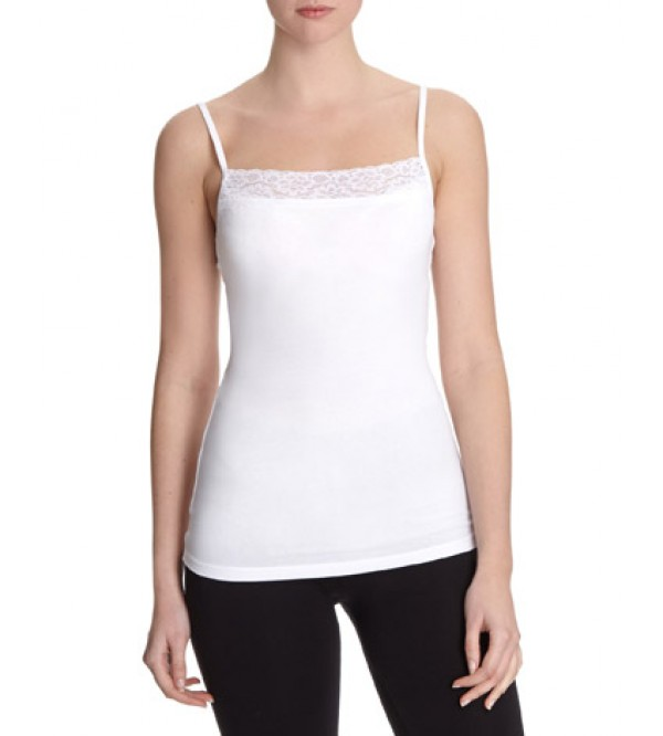 Ladies Stretch Tank Tops With Lace Trims