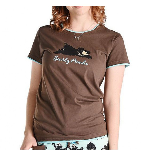 Lazy One Ladies Printed Sleepwear T Shirts