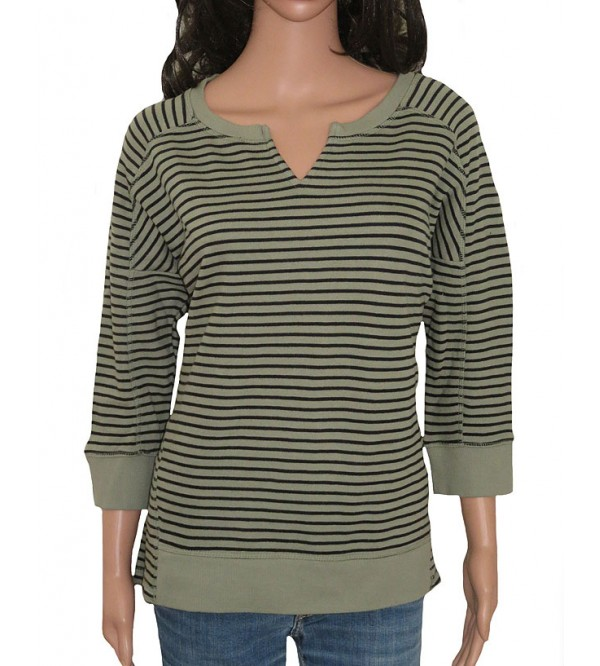 Ladies Striped Sweatshirts