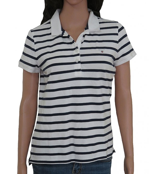 Ladies Stretch Striped Polo