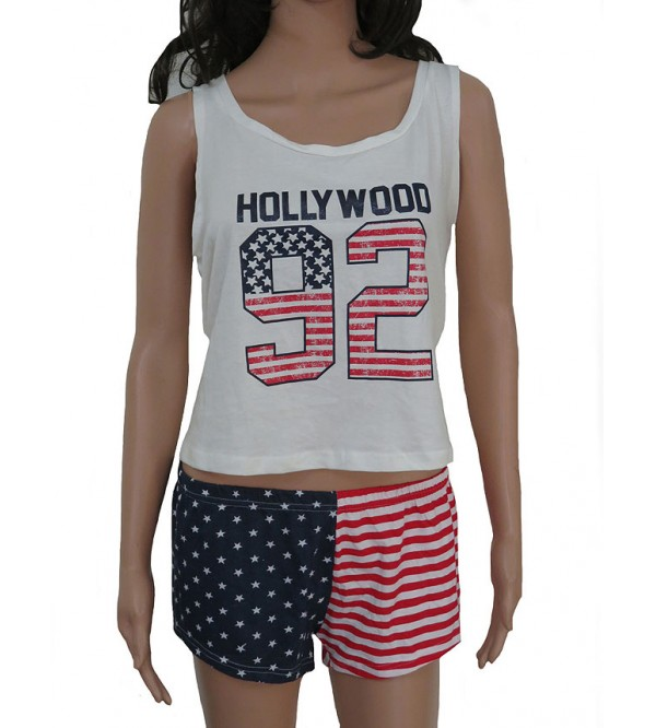 Hollywood Ladies Shorty Pyjama Set (Crop top + Shorts)