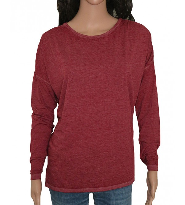 Ladies Burnout Long Sleeve Tops